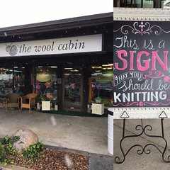 If you are in the SLC area GO TO THIS SHOP!!!  Adorable with a lovely large knitting area to enjoy and the owner... encourages people to just come and hang out and knit!!!  GO!!  #thewoolcabin #slclys #lys #knit #knittersofinstagram