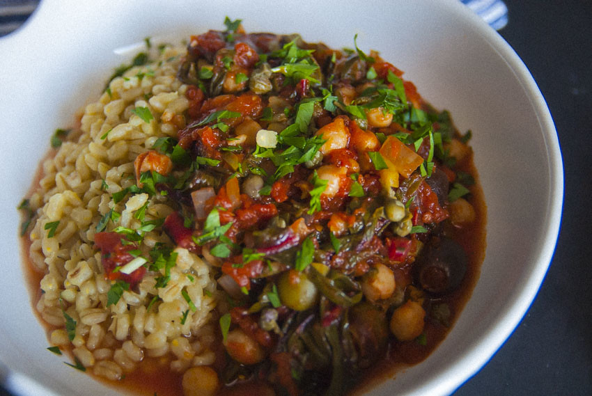 Spanish Garbanzo Beans with Saffron Barley 2