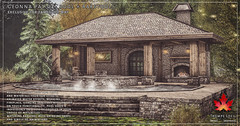 Trompe Loeil - Geonna Patio + Pool + Barstool for FaMESHed May