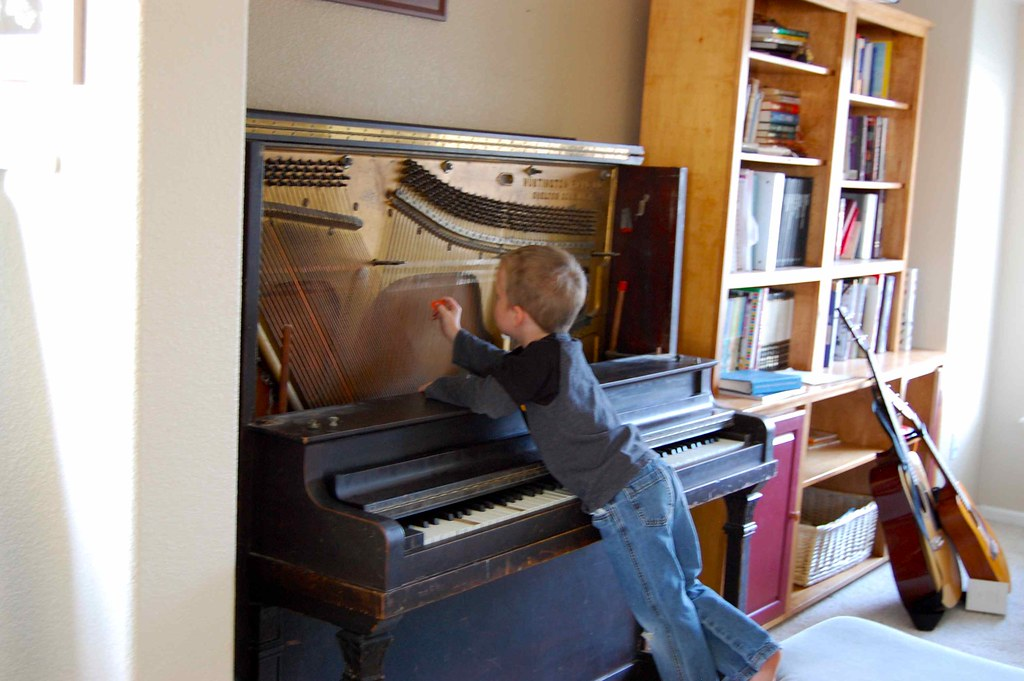 the coolest way to play a piano
