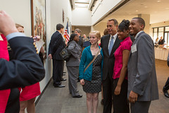 Speaker John Boehner meets students from The Dayton Early College Academy during an event for community leaders from Ohio in Washington, D.C. May 20, 2013. (Official Photo by Bryant Avondoglio)  --- This official Speaker of the House photograph is being made available only for publication by news organizations and/or for personal use printing by the subject(s) of the photograph. The photograph may not be manipulated in any way and may not be used in commercial or political materials, advertisements, emails, products, promotions that in any way suggests approval or endorsement of the Speaker of the House or any Member of Congress.