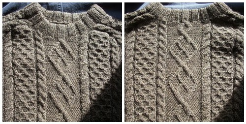 Aranish sweater: front and back by Asplund