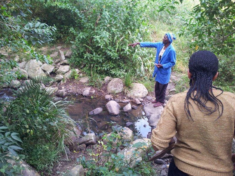 Fig.4 Water source at Mbutye village