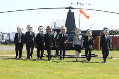 G8 Leaders arriving for the G8 Summit 2013