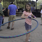 Abbie rocks the Hula Hoop