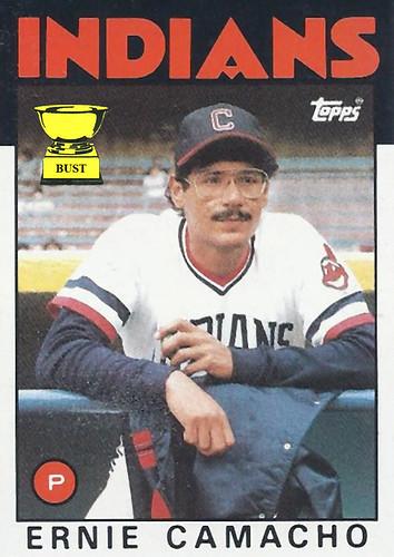 Baseball Card Bust Ernie Camacho 1986 Topps