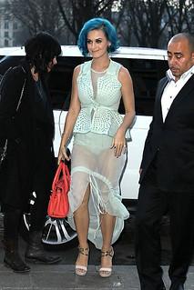 Katy Perry Sheer Dress Celebrity Style Women's Fashion
