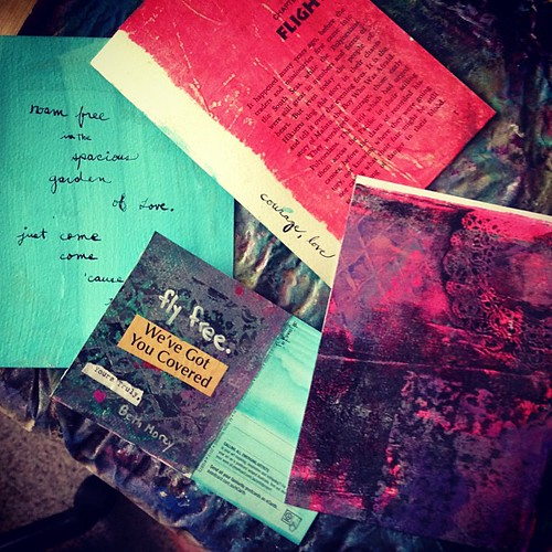 making a mess + more #iamtaj #tajroadtrip postcards. yum. #mixedmedia #makemessyart #madecourse