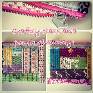 Giving away a @tinkerfrog @becraftsy class and this zipper pouch! Details on my blog!!!!! #giveaway #craftsy