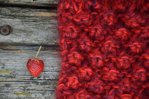 strawberries in my garden and on my needles
