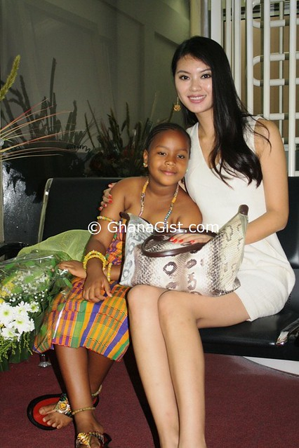 Miss World 2012 Wen Xia arrives in Ghana