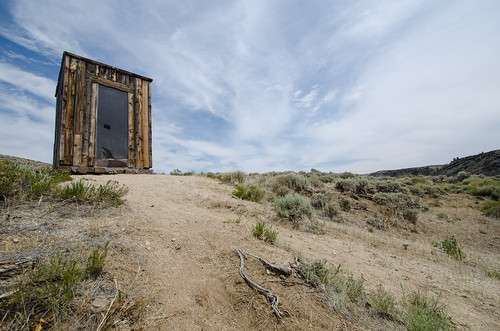 Outhouse in South Pass, WY