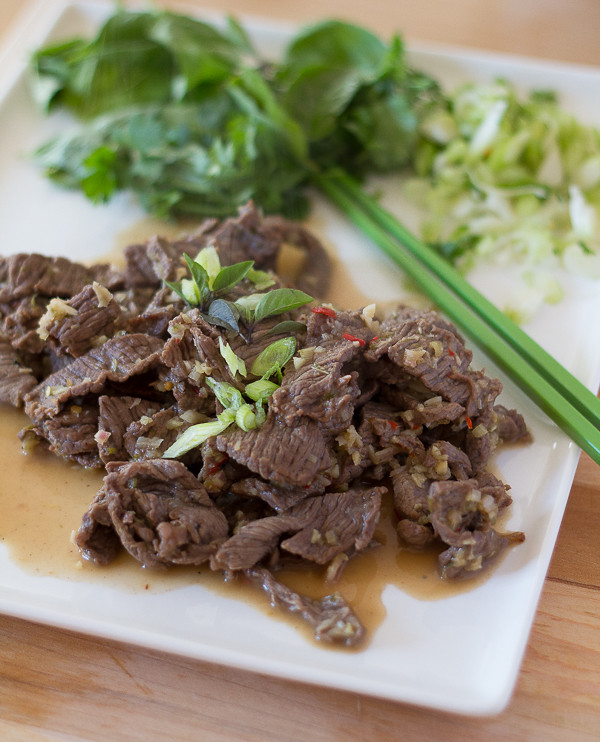 Beef in Lime and Lemongrass Marinade