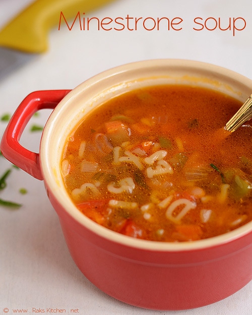 Minestrone Soup Recipe (Vegetarian Minestrone Soup With