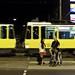 Small photo of Woman, Man;Tram
