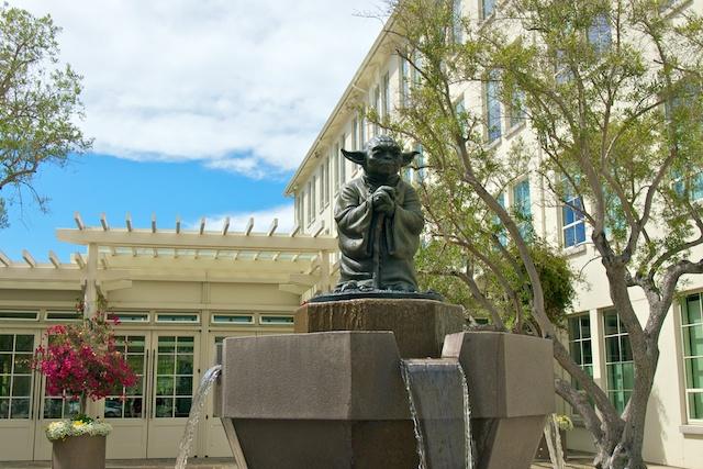 Yoda Fountain Outside ILM