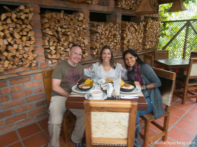 Myself, Katherine, and her Peruvian friend (apologies for the blurry photo)