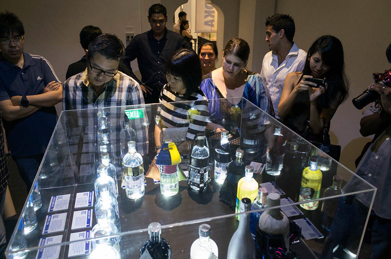 Visitors were enthralled by the limited edition ABSOLUT VODKA bottles on display.