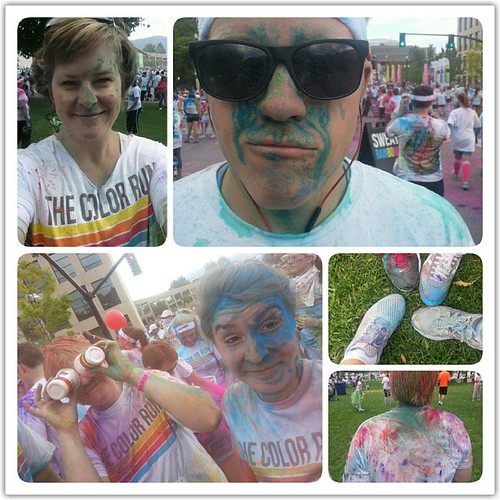 We had so much fun #newfamilytradition #thecolorrun