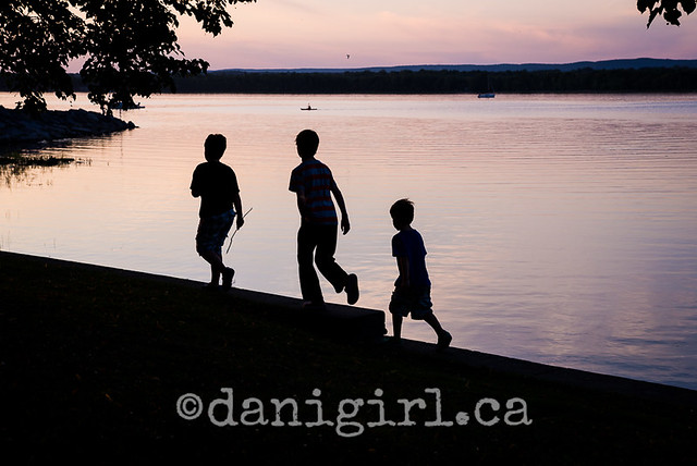 photo of family playing on the beach in Ottawa
