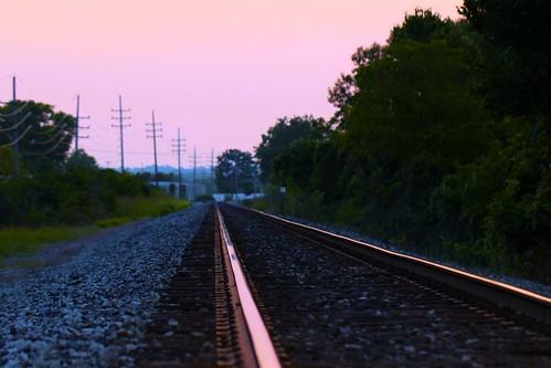railroad sunset summer hot train canon twilight tracks august railroadtracks 100degrees 2013 ridetherail wrongsideoftown