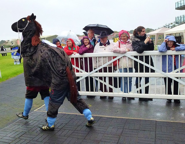 Panto Creatures at Aintree Racecourse.