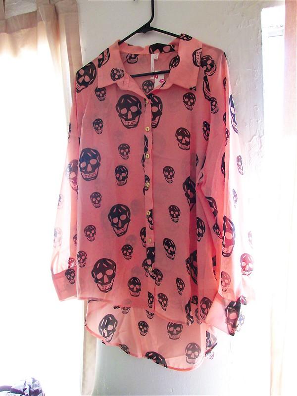 Three Ways to Style: Pink Skull Blouse
