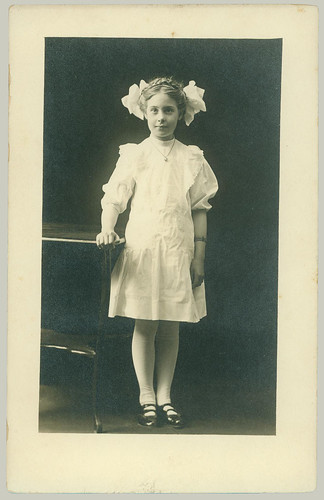 GIrl with two bows