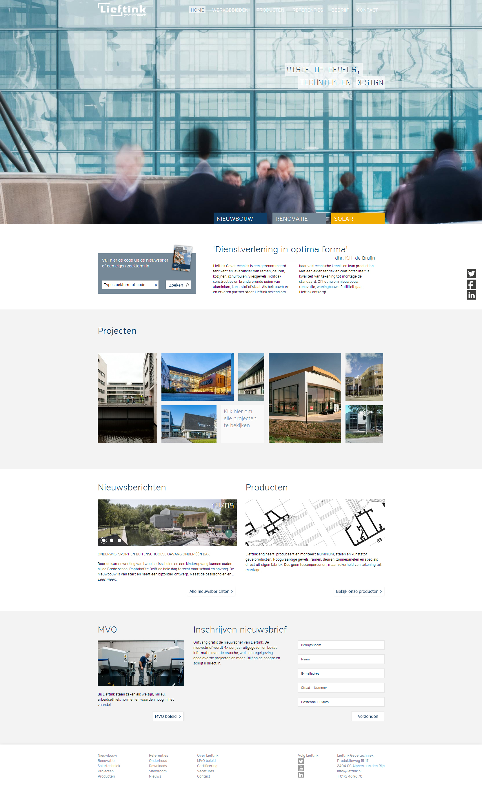 Lieftink - Clean Architecture Website For Your Inspiration