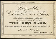 Reynolds Brothers fine shoes, Utica, N. Y. [back]
