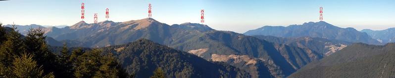 合歡群峰(From 鈴鳴山眺望西南) 2-1