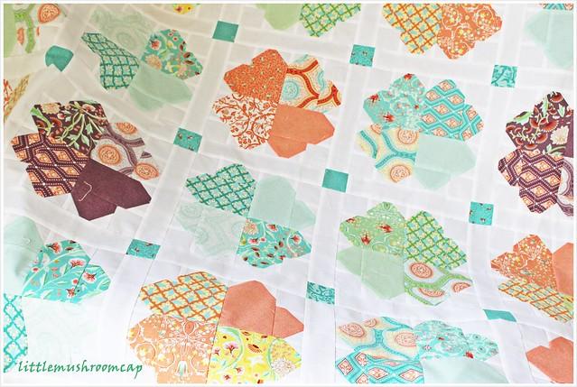 Clover Lover_ A quilt in progress