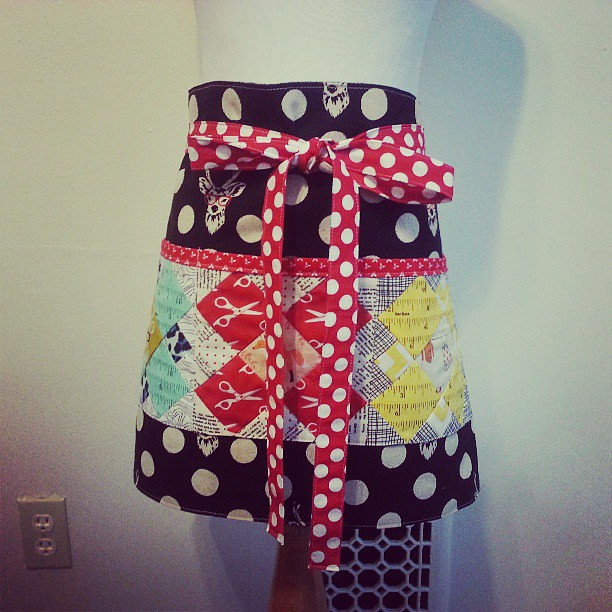 My cash apron for the craft show #patchworkplease @ayumills