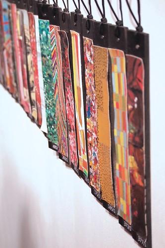 strips of paintings like panetone strips