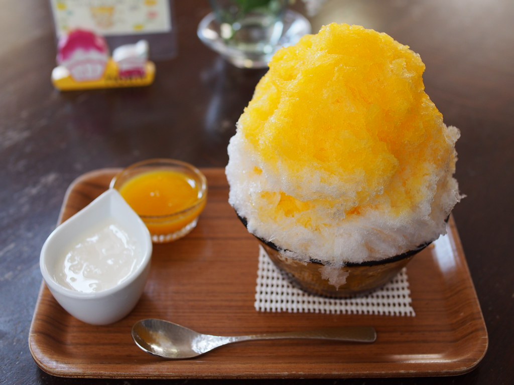 Japanese Ice Shaved - Yogurt Condensed Milk & Yuzu Orange