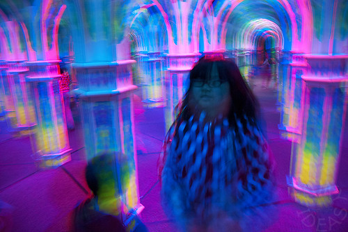 In the mirror maze