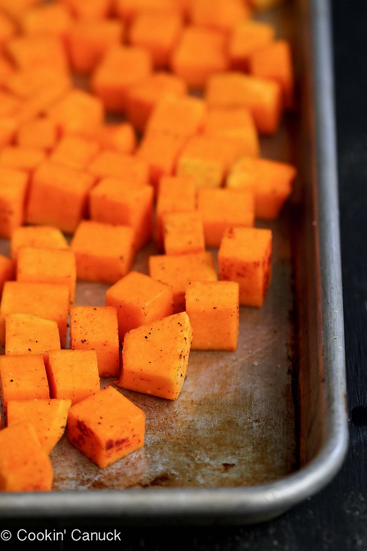 5-Ingredient Roasted Butternut Squash Recipe with Smoked Paprika | cookincanuck.com #vegetarian #vegan