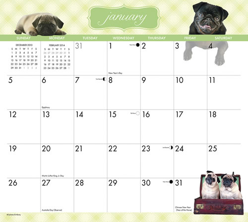 Willow Creek Press Magnetic Calendar by Megan Lorenz