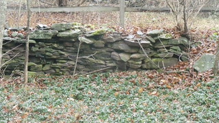 Stone Wall at OLD DELHI CEMETERY (Delhi, New York)