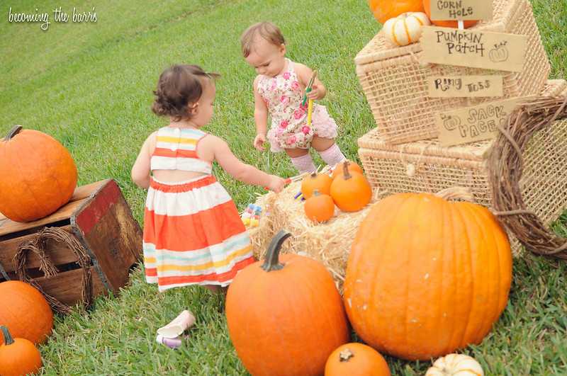 pumpkin patch fall birthday party