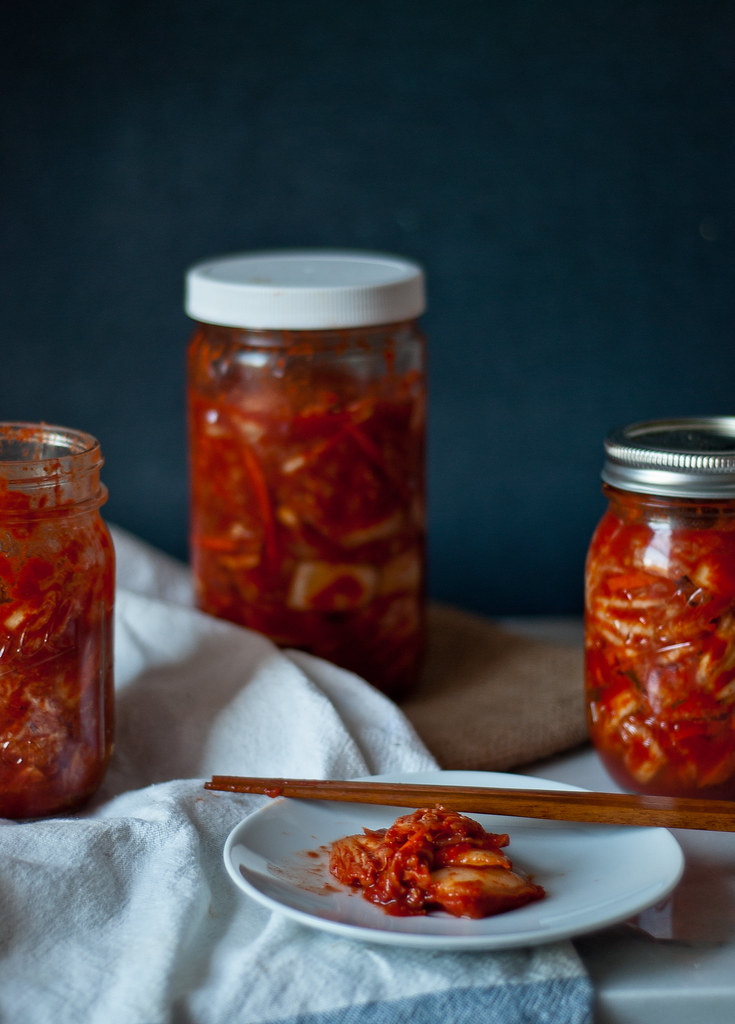 "Homemade mak (""easy"") kimchi. - Two Red Bowls"