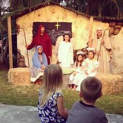 ⛪ Loved this live nativity tonight.