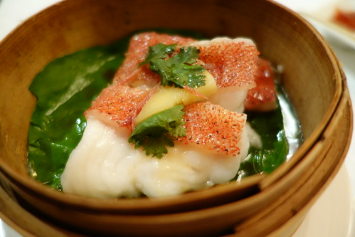 Hong Kong-Style Steamed Coral Trout from Yan Ting's Chinese New Year 2014 Set Menu