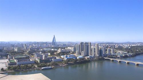 dprk korea northkorea asia travel youngpioneertours cityscape landscape scenery bus monument pyongyang
