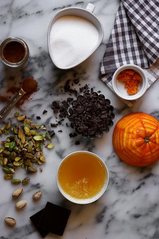Pistachio Orange and Dark Chocolate Cinnamon Rolls