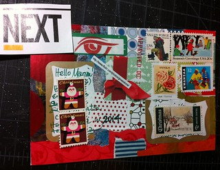 Swap-Bot sCrappy bits collage MailArt, back
