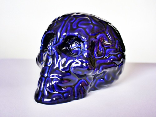 SKULL BRAIN BLEU DE FOUR