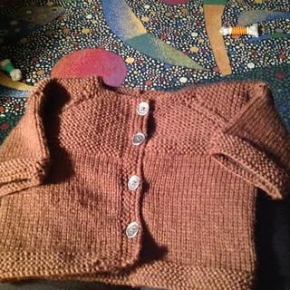 Garter Yoke Sweater for baby Noah.....it is so friggin cute.