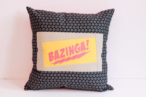 Big Bang Theory Pillow by Jeni Baker