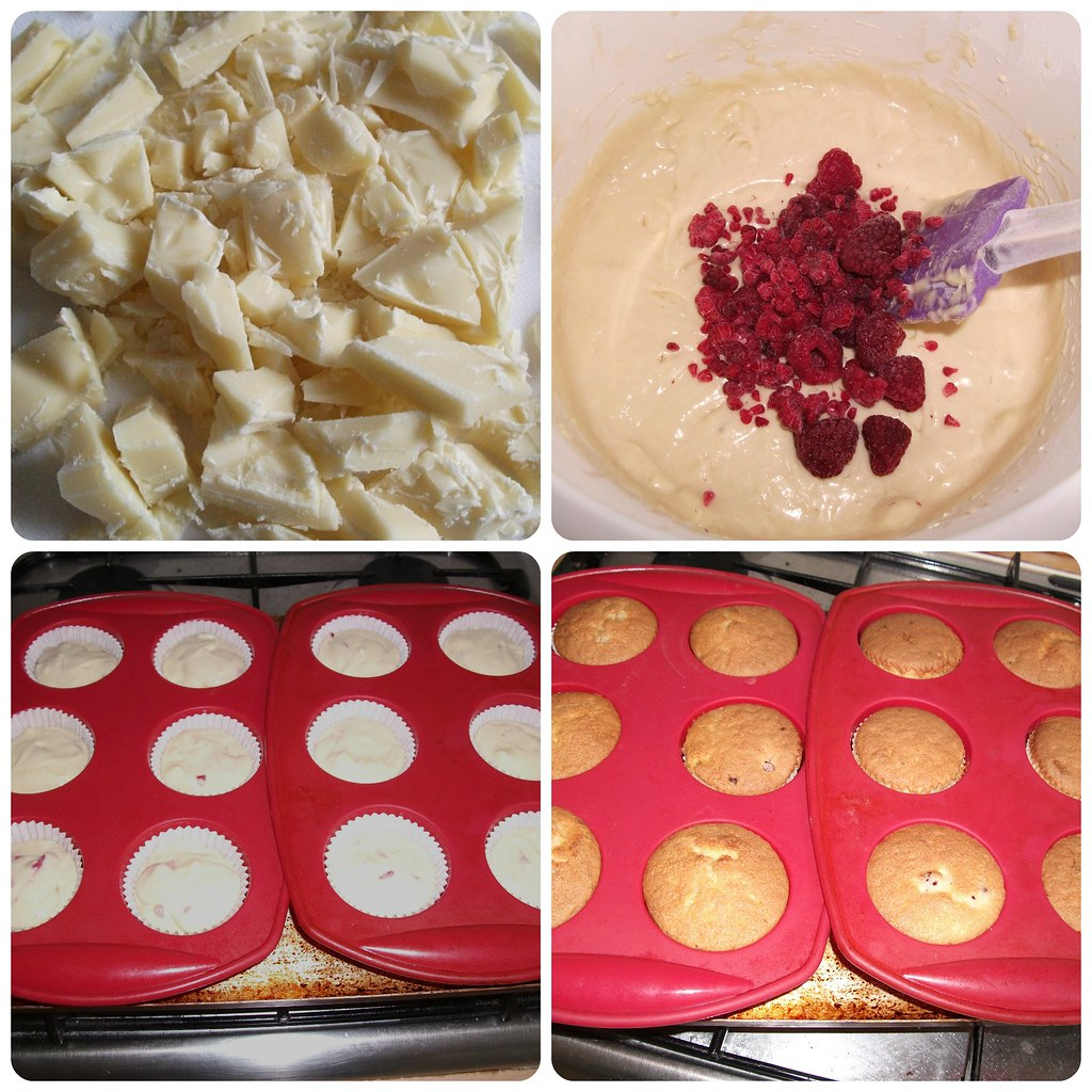 Raspberry & White Choc Cupcakes Recipe 2